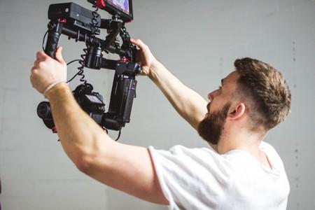 Kameramann in der Journalistenschule